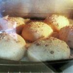 Sourdough Spelt Seeded Rolls in Oven
