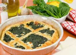 Cheese Pastry Spinach Quiche