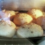 Sourdough Spelt Seeded Rolls in Oven