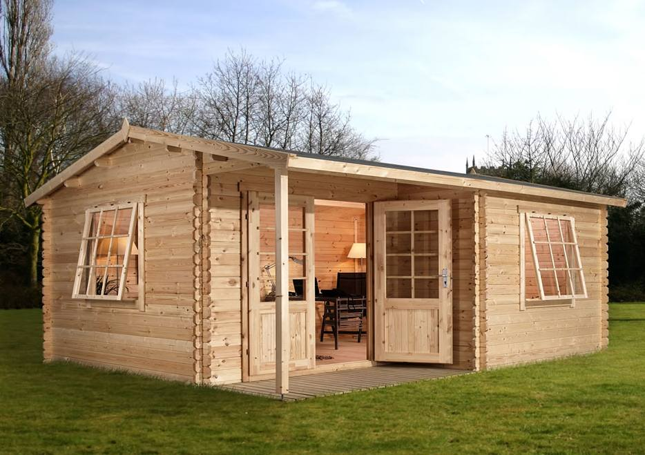 Garden buildings outdoor garden rooms low cost living for Outdoor office building