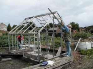 Re-Building a Second Hand Greenhouse
