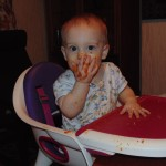 Messy Baby who is Baby Led Weaning