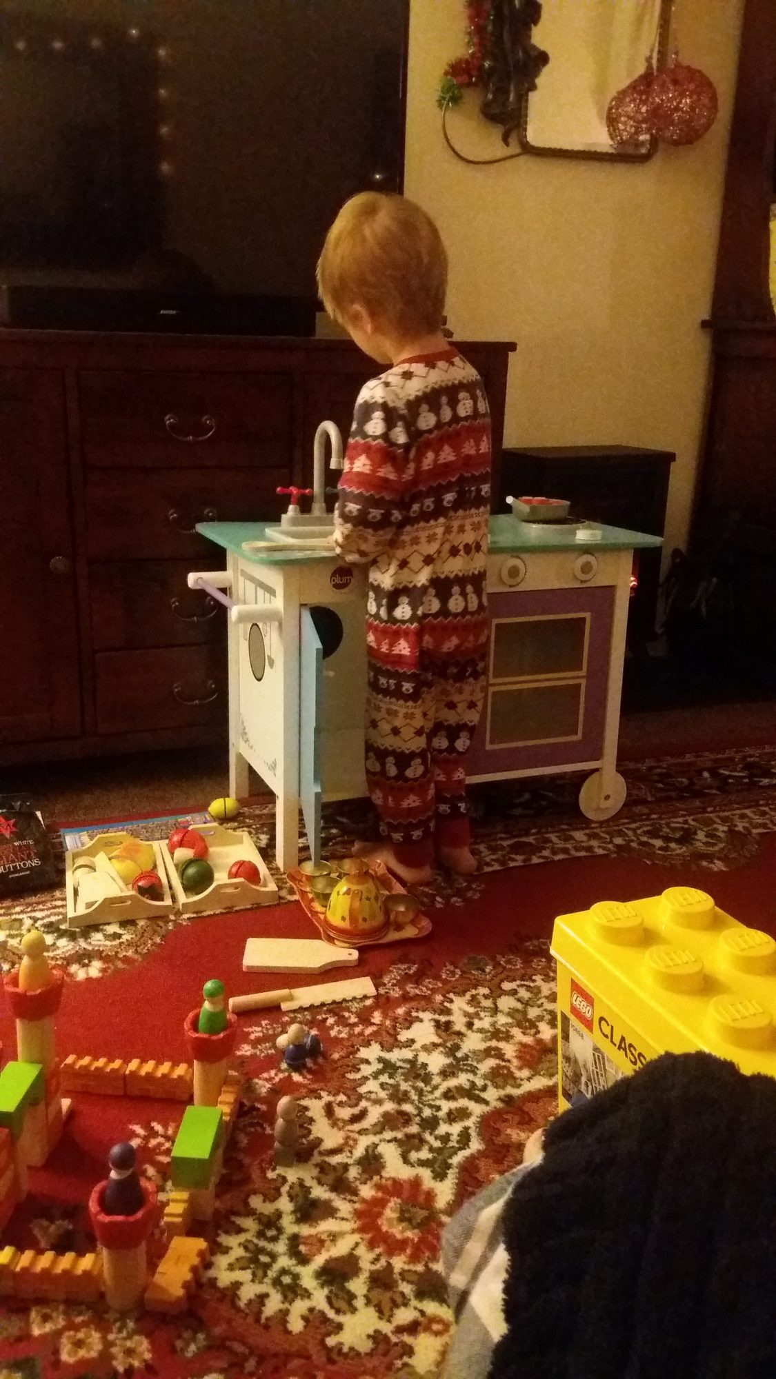 Gabe Cooking and Toys